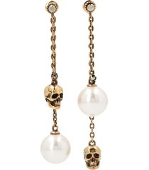 alexander mcqueen pearly earrings