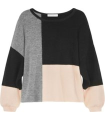 adyson parker women's long sleeve color block pullover