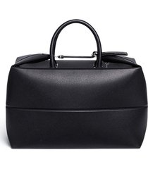 foldable leather carry-on satchel