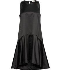 henrica bow jurk knielengte zwart custommade