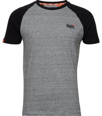 ol classic ss baseball tee t-shirts short-sleeved grå superdry
