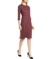 women's boss ebriella embroidered dot dress