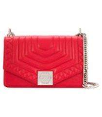 philipp plein bolsa tiracolo geométrica - vermelho