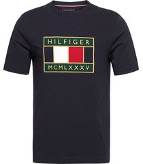global flag relaxed fit tee t-shirts short-sleeved tommy hilfiger