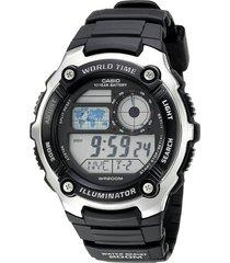reloj casio ae-2100w-1a para caballero negro/ dorado