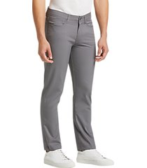 joe joseph abboud repreve® light gray slim fit casual pants