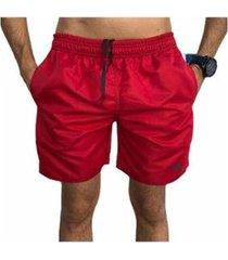 bermuda short moda praia mini siri lisa relaxado - masculino