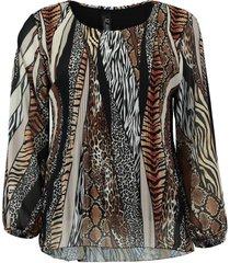 blouse plisse bruin