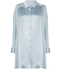 anine bing mini shirt dress - blue