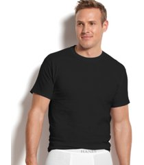 hanes men's platinum freshiq underwear, 4 pack crew neck undershirts
