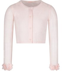billieblush pink cardigan for girl with flowers