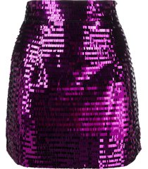 amen sequinned mini skirt - purple