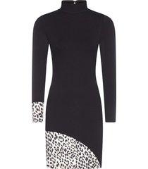 alice + olivia delora stretch viscose mini dress