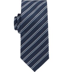 boss men's diagonally striped tie