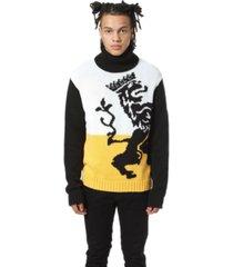 artistix lion intrasia turtleneck sweater