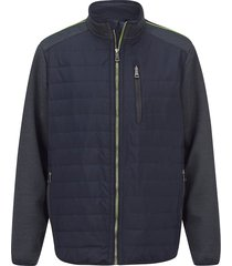 hybride jas men plus donkerblauw::neongroen