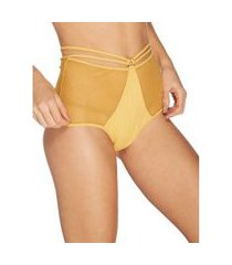 calcinha alta hot pant afresco sun flower p