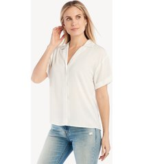 the good jane women's tina short slv top in color: white size xs from sole society