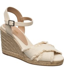 onarewia sandalette med klack espadrilles beige aldo