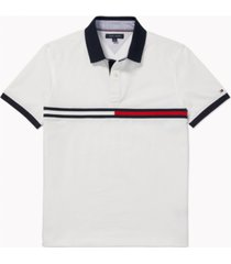 tommy hilfiger adaptive men's custom-fit tanner polo shirt with magnetic buttons
