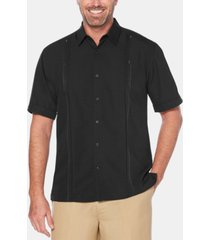cubavera men's big & tall double tuck short-sleeve shirt
