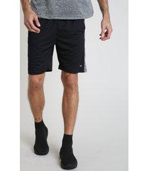 bermuda masculina esportiva ace com faixa lateral preta