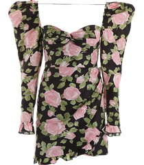 alessandra rich rose print mini dress