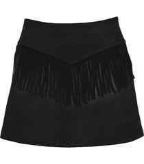 mm6 fringed mini skirt