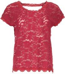 kanten top met rugdecolletã© lieve  framboos rood