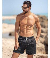 masculino swimwear pantaloneta negro leo 505027