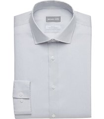 michael kors men's gray patterned slim fit dress shirt - size: 15 34/35