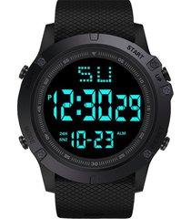 reloj digital led hombre deportivo tipo militar alarma 653 negro