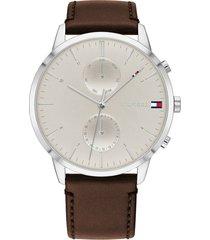 reloj tommy hilfiger 1710404 marrón cuero