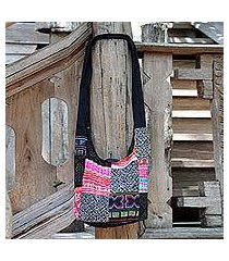 cotton sling tote bag, 'hmong tradition' (thailand)