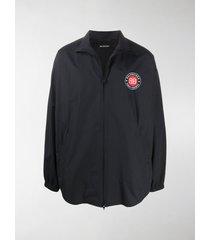 balenciaga logo patch jacket
