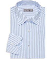 canali men's modern-fit striped dress shirt - blue white - size 15.75 40