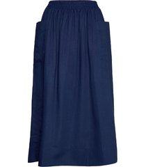 lip skirt knälång kjol blå britt sisseck