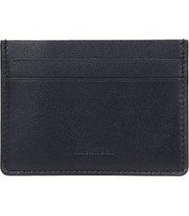 jil sander wallet in black leather