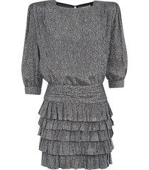 saint laurent glittery coating dress