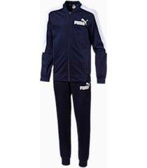 baseball collar boys' track suit, blauw, maat 104 | puma