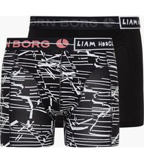 björn borg shorts bb cracked stripe 2-pack boxershorts black