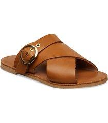 eden shoes summer shoes flat sandals brun pavement
