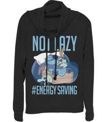 fifth sun women's disney lilo stitch lazy energy fleece cowl neck sweatshirt