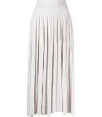 sminfinity pleated slip-on knitted skirt - neutrals