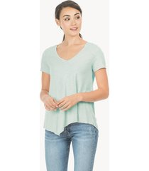 lilla p short sleeve v-neck asymmetrical tee