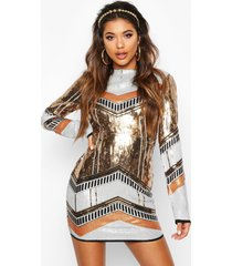 boutique sequin bodycon dress, gold