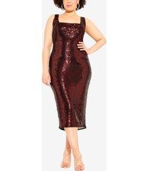 city chic women's trendy plus size sequin dress