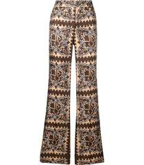 valentino bandana print trousers - neutrals