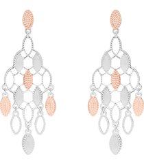 orecchini pendenti in bronzo rodiato forma arabeggiante per donna
