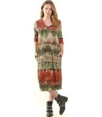 vestido lanilla estampado verde bous